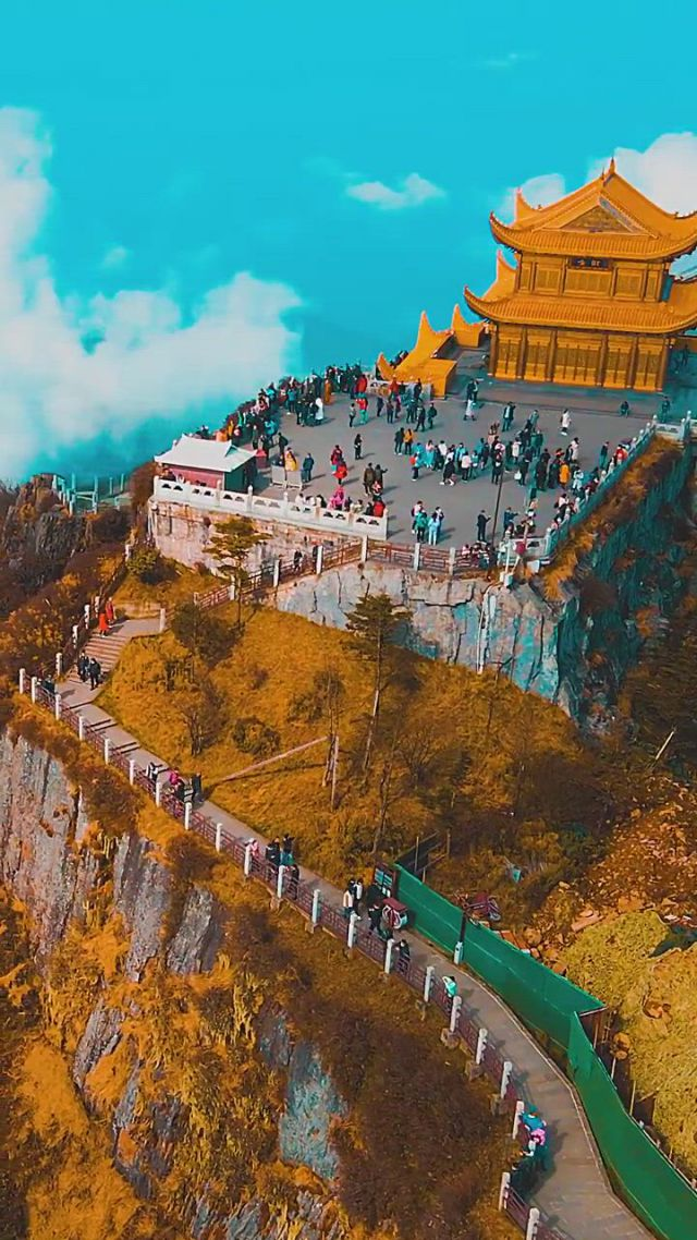 Mount emei emeishan - Video & GIFs | beautiful nature scenes,beautiful places nature,beautiful places to travel,best places to travel,cool places to visit,places to go,foto jimin,dream vacations,wonders of the world
