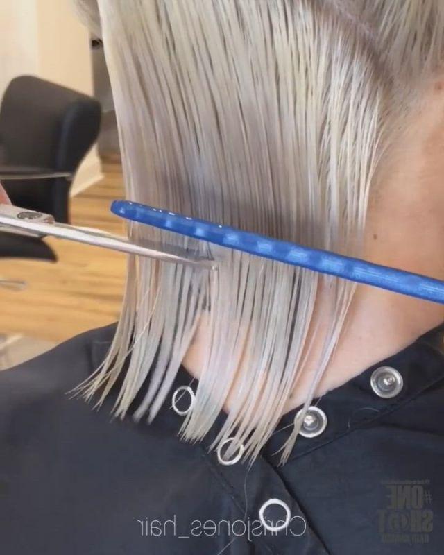 Dry cutting bob hairstyle