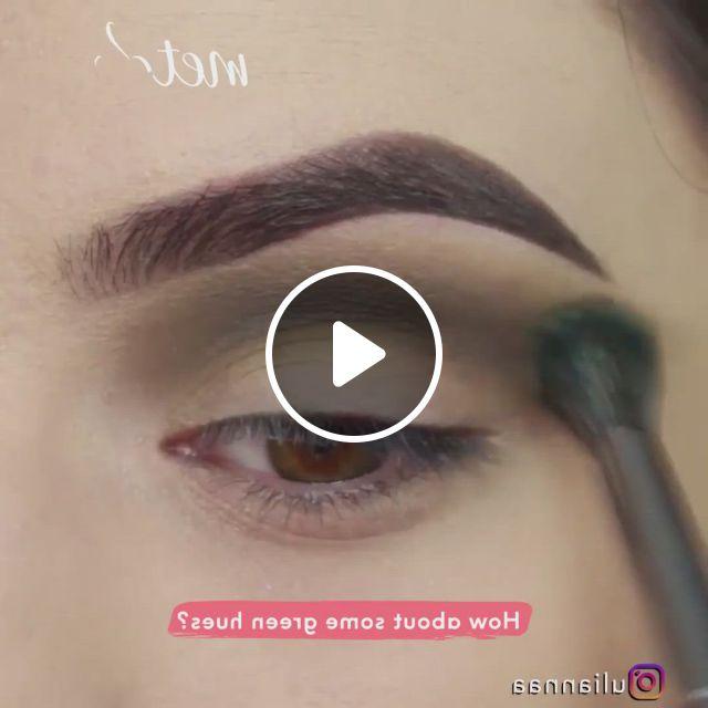 Green Shimmer - Video & GIFs | eye makeup, glittery eye makeup, makeup looks tutorial, makeup vs no makeup, cheap makeup, makeup set, sephora makeup, makeup tips, makeup ideas, makeup prices, makeup brands, makeup products