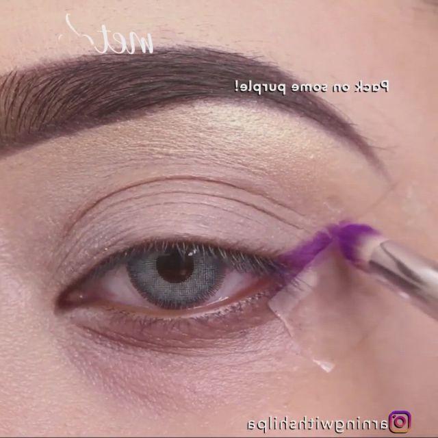 Purple and pink - Video & GIFs   purple eyeshadow looks,loreal makeup foundation,gold eye makeup tutorial,makeup vs no makeup,gold eye makeup,eye makeup steps,makeup eyeshadow,cheap makeup,makeup set,sephora makeup,makeup ideas,makeup tips