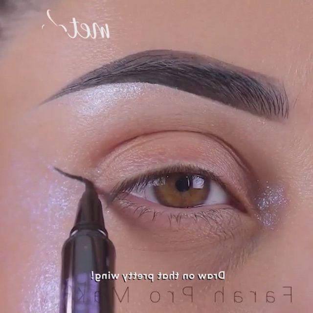 Winged liner - Video & GIFs | winged liner makeup,loreal makeup foundation,makeup prices,makeup vs no makeup,sephora makeup,eyebrow makeup,eyeshadow makeup,cheap makeup,makeup set,eyeshadows,makeup ideas