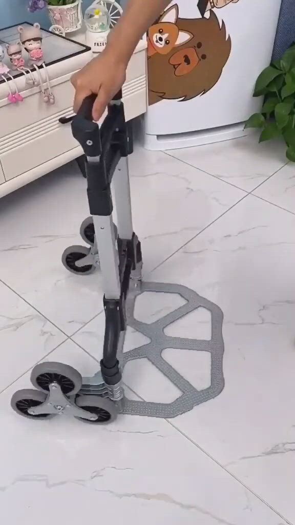 Stair Climbing Cart, All Terrain Stair Climbing Hand Truck with Bungee Cord