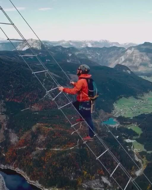 Stairs in austria connecting two mountain peaks - Video & GIFs   adventure travel wanderlust,adventure travel,adventure travel explore,road trip adventure,adventure couple,nature adventure,adventure time,beach adventure,adventure bucket list,wanderlust travel,travel qoutes