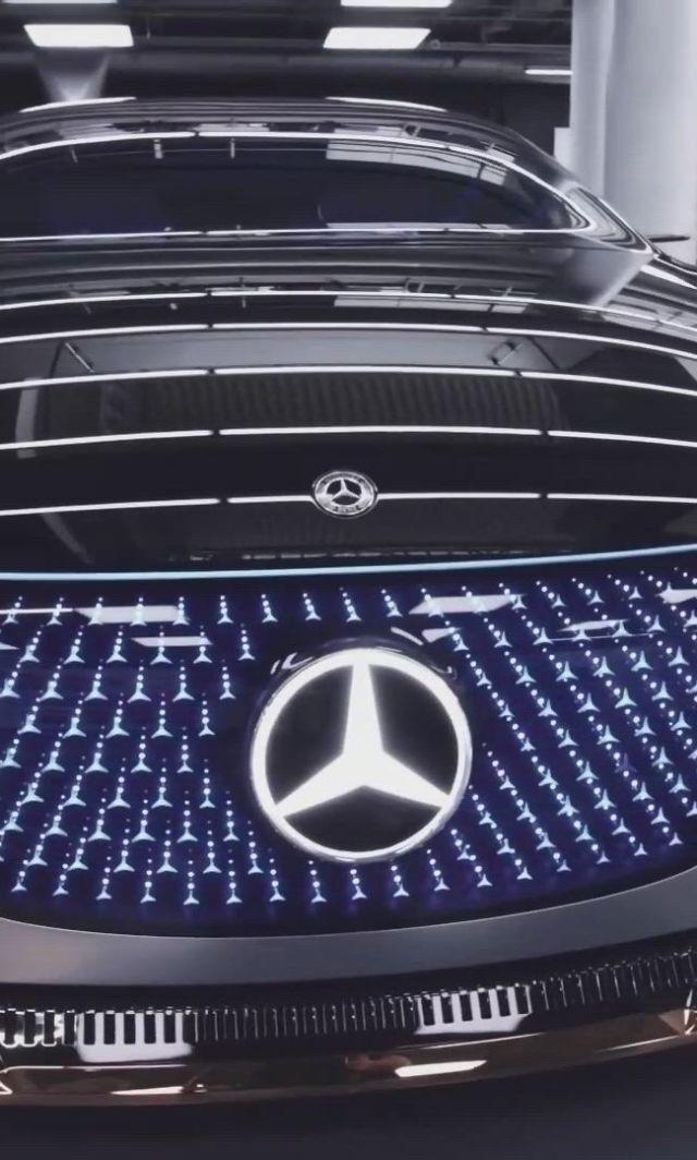 Mercedes Benz Vision EQS - Video & GIFs | mercedes benz sports car,sports car,best luxury cars,cool sports cars,fancy cars,top cars,car,electric cars,concept cars