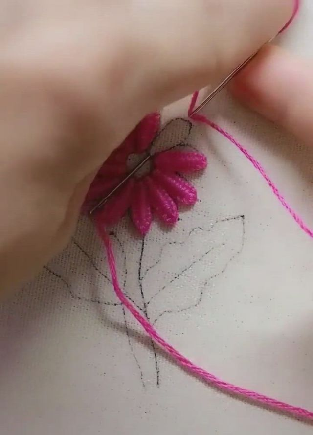 DIY Sewing Tips - Video & GIFs | hand embroidery patterns flowers,diy embroidery patterns,sewing embroidery designs,basic embroidery stitches,hand embroidery,hand embroidery tutorial,learn embroidery,hand embroidery designs,embroidery kits,diy easy embroidery,simple flower embroidery designs