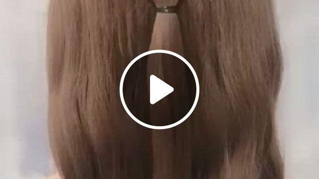 Elegant Hairstyles - Video & GIFs | hair styles, easy hairstyles, easy hairstyles for long hair, medium hair styles, short hair styles, hair medium, medium hair updo easy, medium long, elegant hairstyles, natural hairstyles, everyday hairstyles