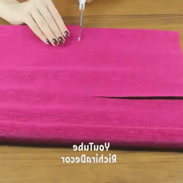 How to DIY paper flower tutorial - Video & GIFs | diy paper flowers tutorial,tissue paper flowers diy,handmade flowers paper,paper flower patterns,tissue paper flowers,paper flower tutorial,diy flowers,flower paper,handmade flowers,rolled paper flowers,crepe paper roses,crepe paper crafts