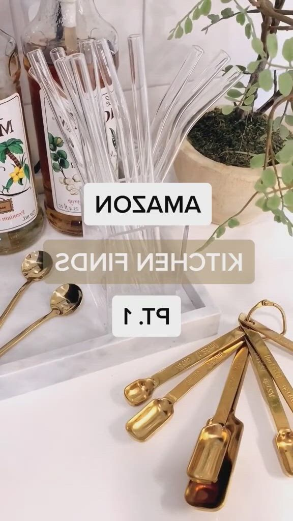 Amazon kitchen finds part 1 links in description - Video & GIFs | amazon home decor,home room design,amazon decor,home decor kitchen,interior design kitchen,kitchen ideas,kitchen tools and gadgets,kitchen small,utensil set,kitchen styling,apartment ideas