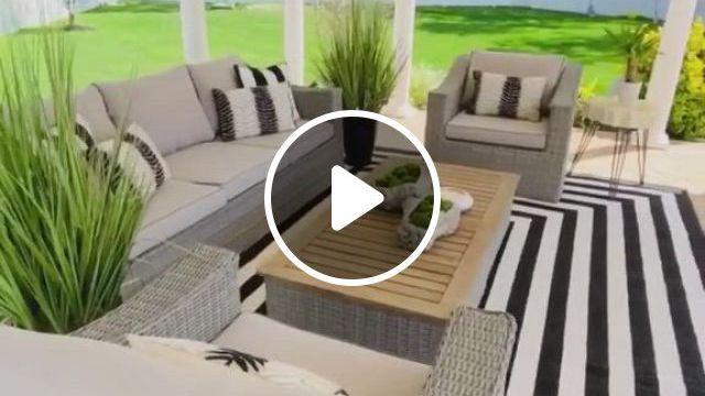 Gorgeous Outdoor Patio - Video & GIFs   patio, outdoor furniture sets, patio design, outdoor landscaping, backyard patio, küchen design, outdoor dining, outdoor decor, diy home repair, luxury rooms, modern house plans