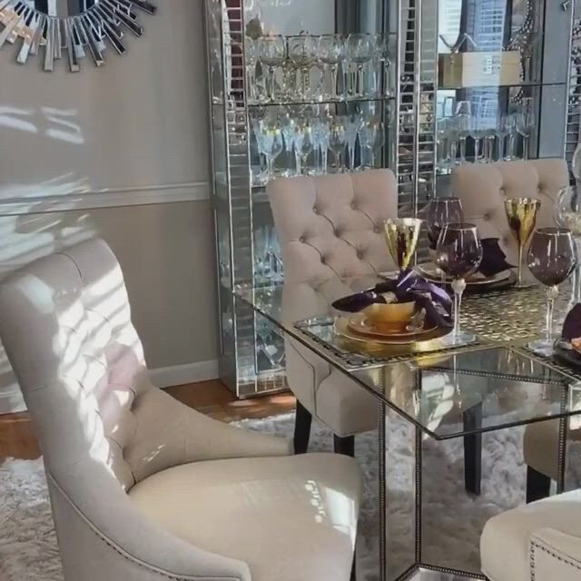 Modern dining room set - Video & GIFs   modern dining room set,classy dining room,dining room table decor,table decor living room,dining room bar,elegant dining room,dining room design,best dining room colors,classy living room,traditional dining rooms,decoration table,curved walls