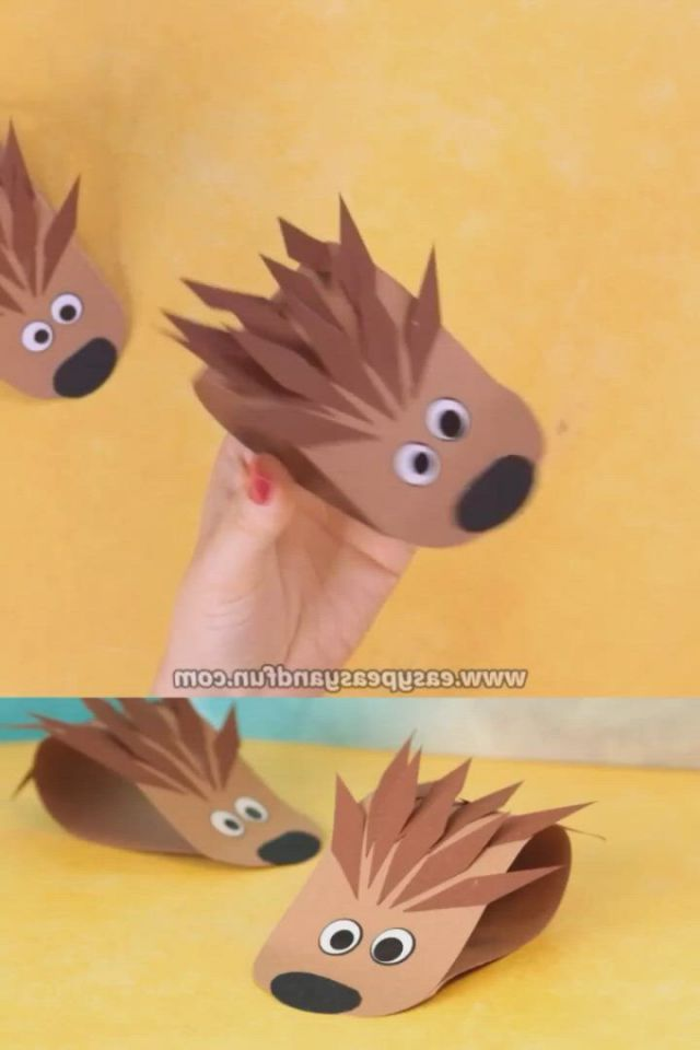 Simple hedgehog paper easy peasy and fun - Video & GIFs | preschool crafts,paper crafts,fall crafts for kids,fall paper crafts,autumn crafts,toddler crafts,projects for kids,diy for kids,easy crafts,arts and crafts