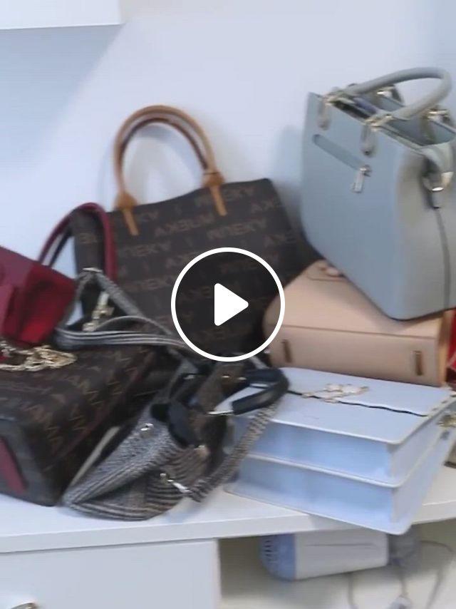 Sixlayer Bag Organizer Hanging Storage - Video & GIFs | handbag storage, handbag organization, bag organization