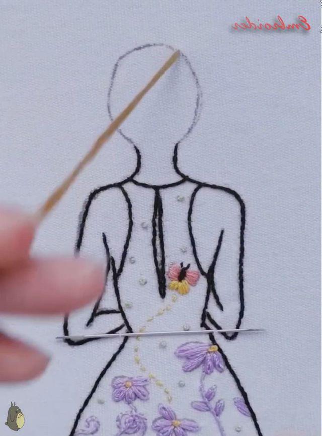 Amazing Art - Video & GIFs   artes e artesanato,ideias para artesanato,flores bordadas a mao,diy embroidery patterns,hand embroidery videos,hand embroidery flowers,embroidery stitches tutorial,flower embroidery designs,creative embroidery,embroidery techniques,ribbon embroidery,embroidery art