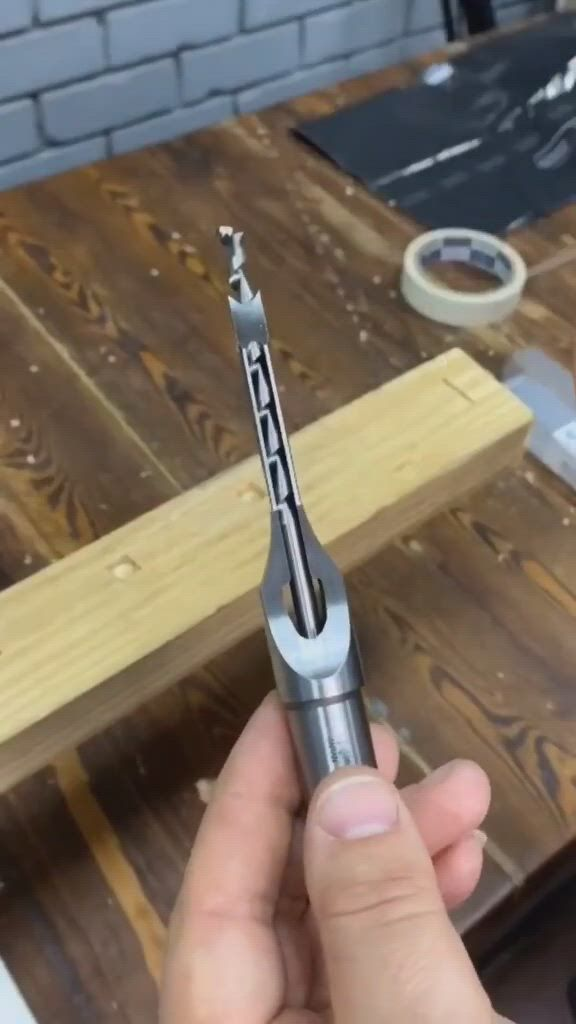 Drill Perfect Square with Ease - Video & GIFs | woodworking techniques,woodworking tools,woodworking ideas table
