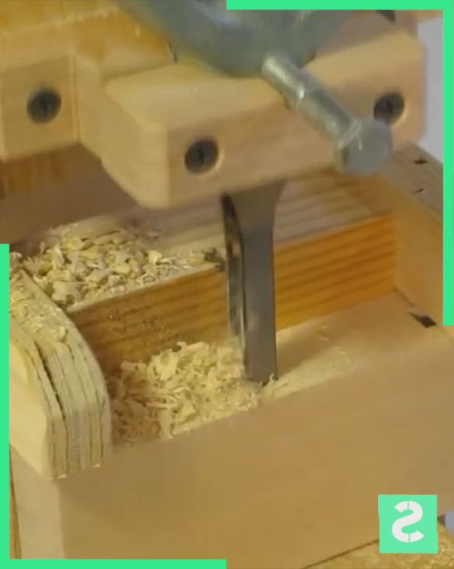 EasySquare Drill Bit Set - Video & GIFs | woodworking ideas table,easy woodworking projects,woodworking techniques,woodworking tools,wood carving tools,wood tools,diy tools,wood storage rack,tool storage