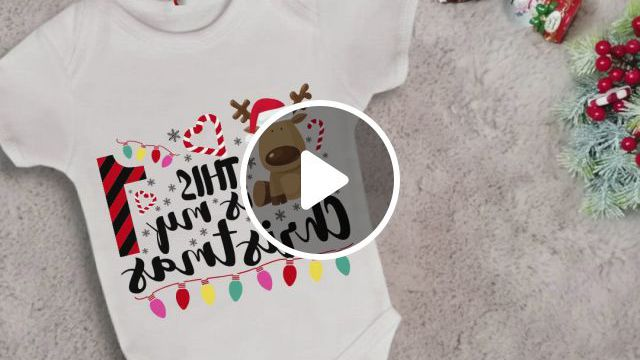 This Is My First Christmas Best Gift For Your Baby Baby One Piece - Video & GIFs | baby one piece, my first christmas, baby kids clothes, cute baby onsies, baby shirts, outdoor wear, indoor outdoor, little babies, cute babies, christmas clothing, cute costumes