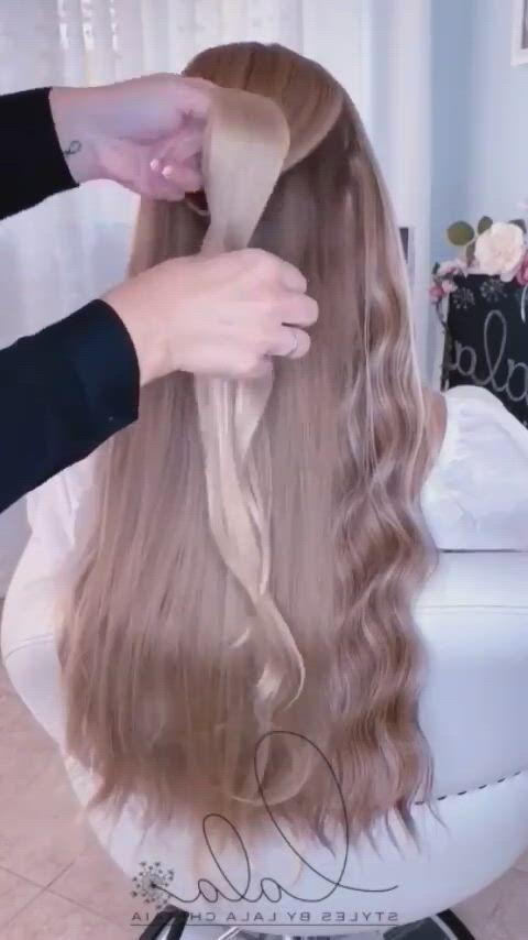 Beautiful hairstyle - Video & GIFs   silver white hair,hair ,gorgeous hair,cute hairstyles,braided hairstyles,gorgeous hairstyles,hairstyles ,easy hairstyle,medium hair styles,long hair styles,back to school hairstyles